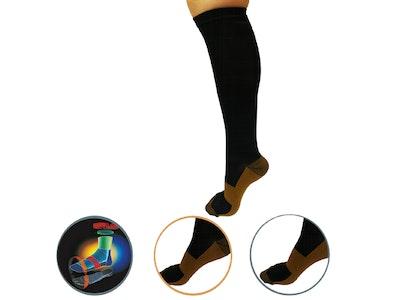 Boutique Medical AXIGN Medical Compression Stockings Socks Travel Flight Circulation High - Black