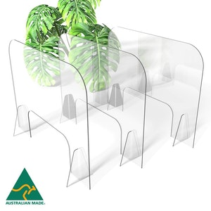 Regal by Anh Hoang Sneeze Guard Clear Acrylic Protective Shield / Screen with Stand (765W x 600H) 3 Pack