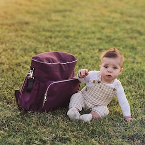 Monarch Store 3-in-1 Convertible Nappy Backpack | Mulberry
