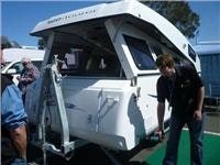 Eco-Tourer caravan rolls up at Melbourne Leisurefest