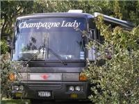 Big rig Wings member and Champagne Lady Taupo NZ