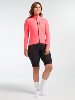 Black Sheep Cycling Women's Elements LS Thermal Jersey - Neon Pink