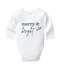 Merry & Bright Stars Onesie