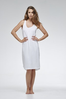 Global Sisters Shop Organic Cotton Singlet Dress - White