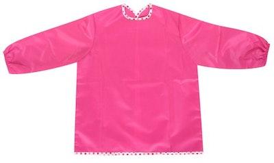 Silly Billyz Medium Pink Long Sleeve Painting Apron