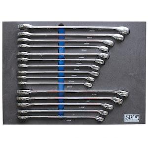 P50016 Spanners 15PC Metric/SAE EVA Foam ROE SP50016