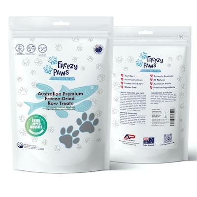 Freezy Paws Premium Freeze-Dried NZ Green Lipped Mussels Raw Treats 50g