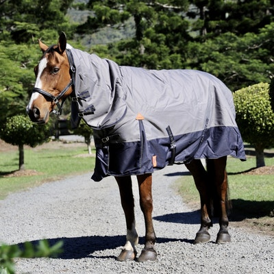 Capriole Equestrian 1200D Navy & Grey Waterproof Combo – with 250g Filling.