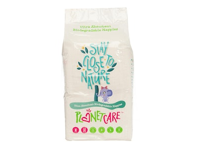 Progeny Stores PlanetCare Eco-friendly Nappies - Medium Size Crawler - Size 3: 6-11kg). 50pcs nappies per pack, 6 packs in a polybag (Total of 300pcs)