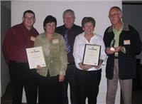GoSeeAustralia MD Graham Wallace (centre) was Faye and Peters guest at the awards