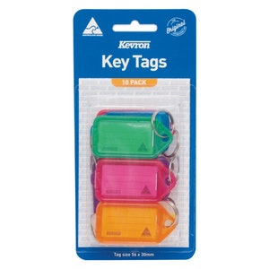 Kevron ID Easy Opening Key Tag – 10 Pack - Mixed