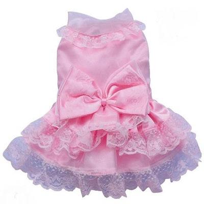 DoggyDolly SMALL DOG - Frilly Pink Doggy Dress