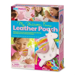 4M - KidzMaker - My Unicorn Faux Leather Pouch