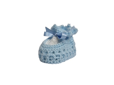 Wildchase Booties - Crocheted - Blue with White Insert