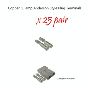50 x 50 amp Anderson Plug Copper Terminals