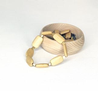 Long Rectangular Wood with Square Bead Bracelet