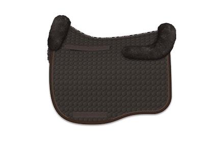 Mattes Eurofit Dressage Fleece Saddle Pad - Brown