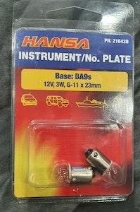 Hansa Instrument / No. Plate Ba9s 12v