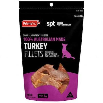 Prime100 Spt Turkey Fillet Dog Treats 100G