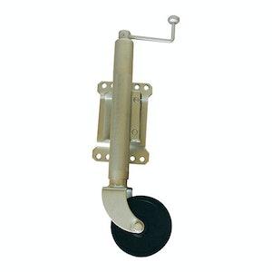 """Loadmaster Jockey Wheel 150mm (6"""") Hard Wheel, Swing Away Swivel Bracket"""