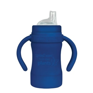 green sprouts Sprout Ware Sippy Cup made from Plants-6oz-Navy-6mo+