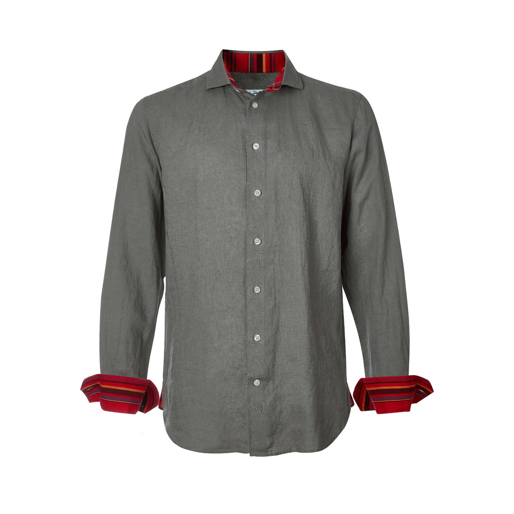 Koy Clothing Safari Khaki Linen - Kenyan Kikoy Detail