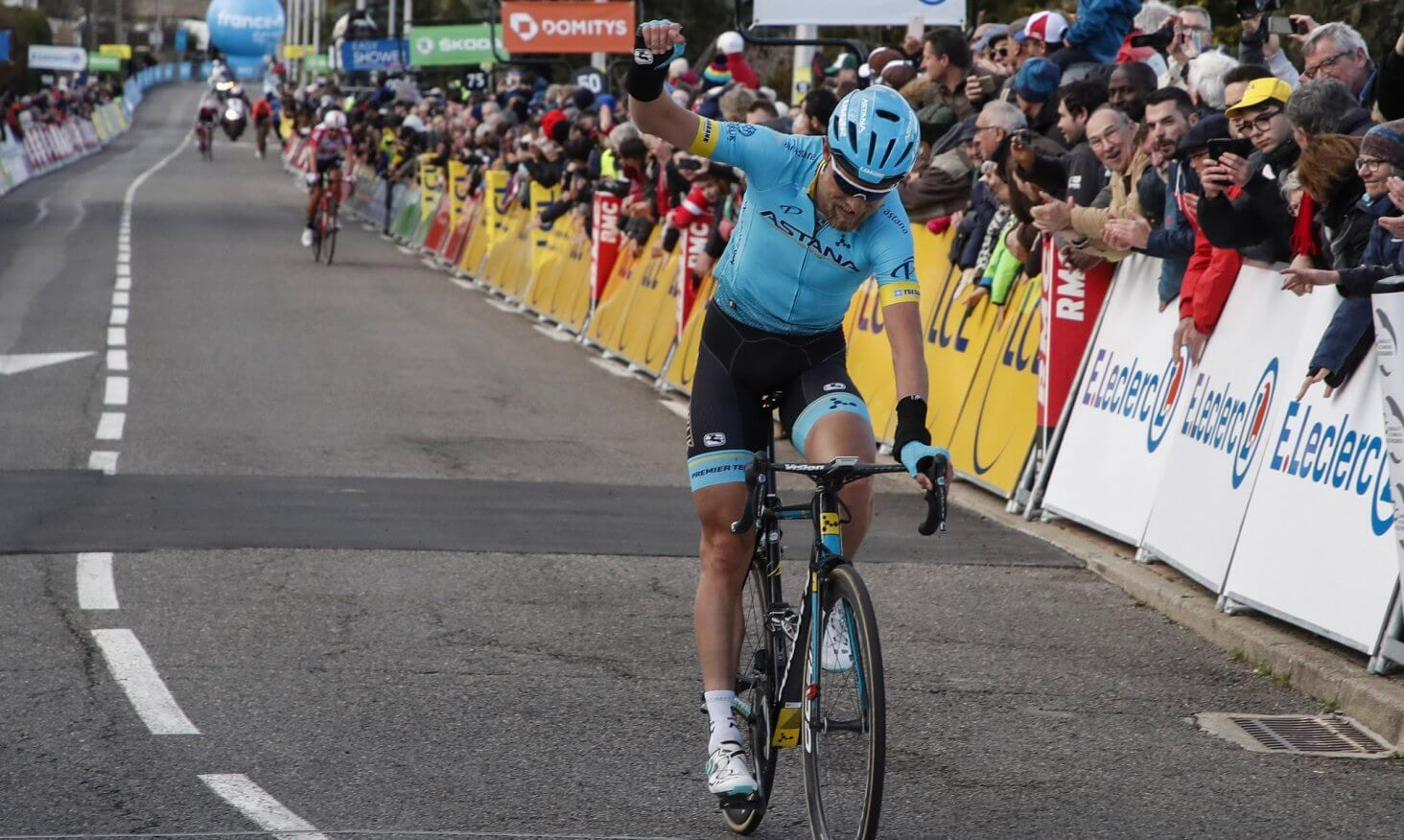 Northwave - Northwave celebrates at the Paris-Nice As Cort Soloes in Pelussin