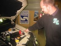 Adam Whyte of Umhauers Geelong 4WD Centre points out the importance of fitting a special relay