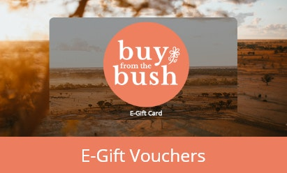 gift card with buy from the bush logo