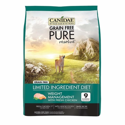 Canidae Grain Free Pure Resolve Weight Management Dog Food Chicken - 3 Sizes
