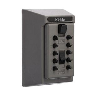 Kidde Push Button Key Safe Wall Mountable 5 Key Capacity in Titanium