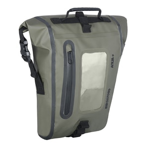 Oxford Aqua M8 Magnetic Tank Bag - Black/ Khaki