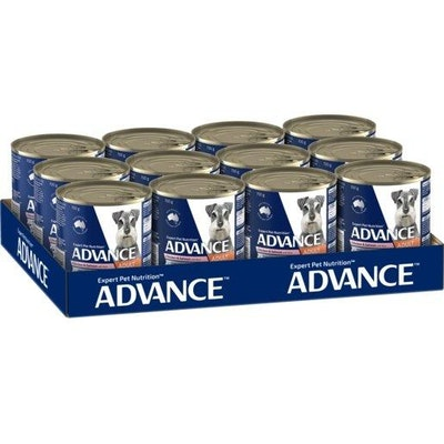 Advance Wet Dog Food Adult Chicken And Salmon 12x700g