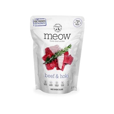 MEOW Beef & Hoki Fish Freeze Dried Cat Food 50g