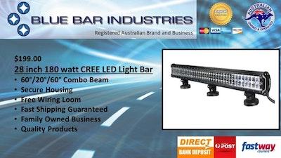 """28"""" CREE Premium Light Bar Combo Beam 14,400 Lumens 180 watts"""