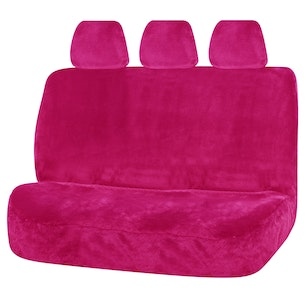 Universal Finesse Faux Fur Rear Seat Cover Size 06/08H   Pink