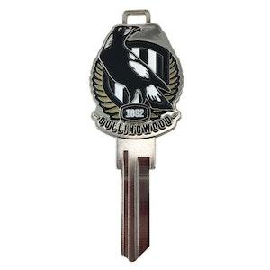 Creative Keys AFL Team Logo Key Blank LW4 – Collingwood Magpies