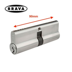 Brava Extended 90mm Length Double Euro Cylinder