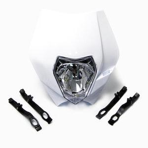 E Marked Motocross Headlight - White