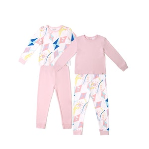 OETEO Australia Road Trip Jammies 4-Piece Bundle Set (Pink)