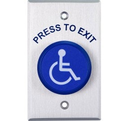 Lockton push button 'Egress Press To Exit' with Disabled Symbol