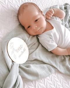 Bubba Bump Baby Fawn Bamboo Muslin Wrap