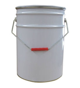 20Lt Metal Open Top Can & Lid with Lock Ring