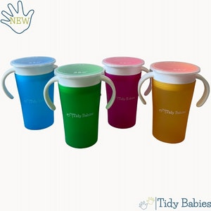 Tidy Babies  360 Baby Trainer Sippy Drinking Magic Cup With Handles And Lid