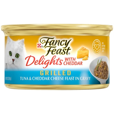 Fancy Feast Delights With Cheddar Grilled Tuna & Cheddar Cheese Wet Cat Food 85G