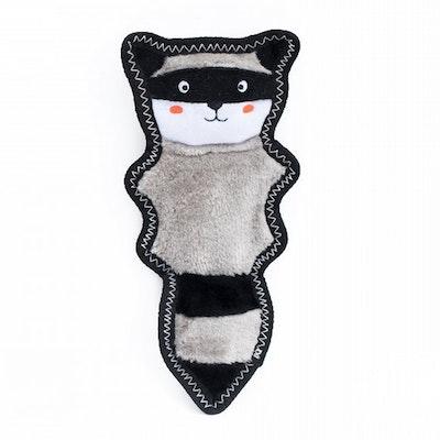 Zippy Paws Z-Stitch Skinny Peltz Raccoon Plush Dog Toy 31.5 x 15cm