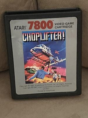Atari 7800 Choplifter Cart