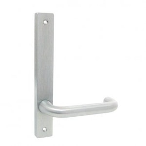 dormakaba narrow style inner square end plate & 25 lever visible fixing in SCP finish