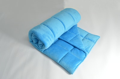 Weighted Travel Blanket - Azure 2kg