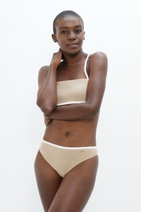 1 People Brisbane Classic Style Bikini Bottom in Sand